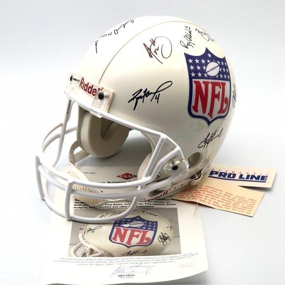 14 NFL Legends Autographed Pro Line Helmet
